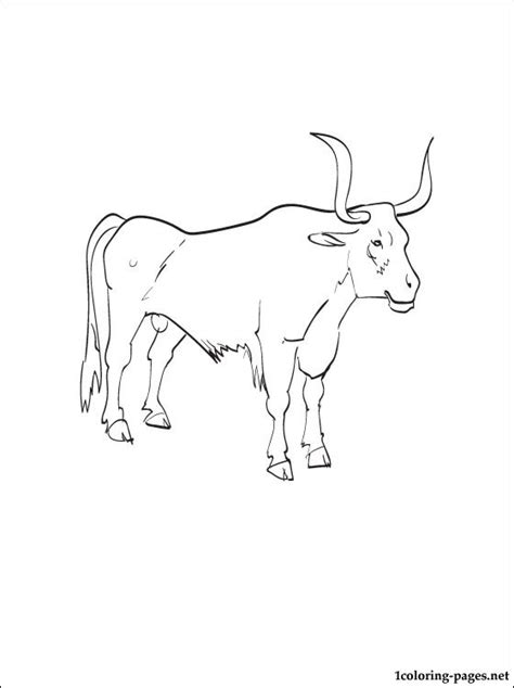 Oxen Printable And Coloring Page Coloring Pages Ox Coloring Page