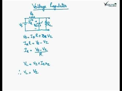 zener diode breakdown voltage equation voltage regulator voltage regulator circuit working of zener diode voltage regulator