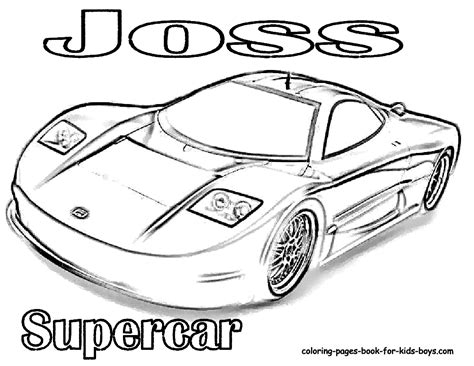 coloring pictures of supercars supercars colouring pages