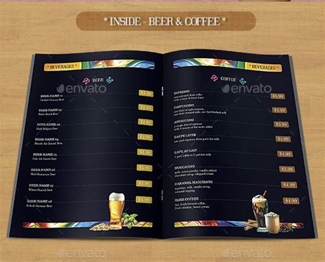 free bar menu template bar menu template 24 documents in psd word