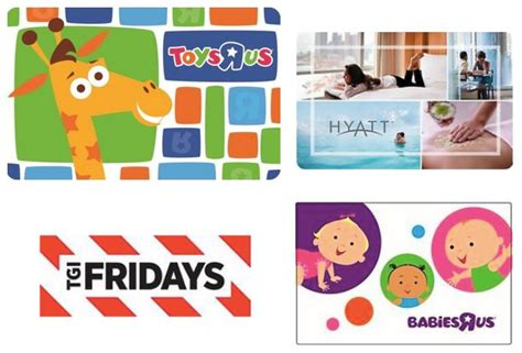 Tgif Gift Card Promotions - hot gift card deals toys r us babies r us tgi fridays and hyatt act fast