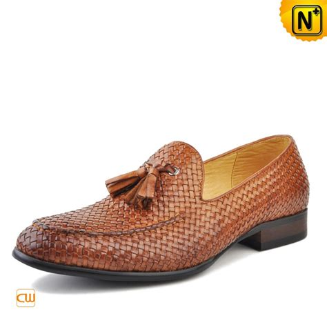 mens leather tassel loafers s woven leather loafers with tassel cw750059