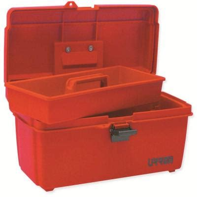 urrea 14 in plastic tool box with metal clasps 9900