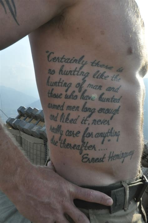 tattoos of ernest hemingway quotes quotesgram