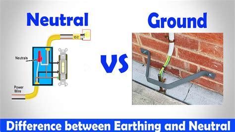 house wiring neutral neutral vs ground difference between earthing and