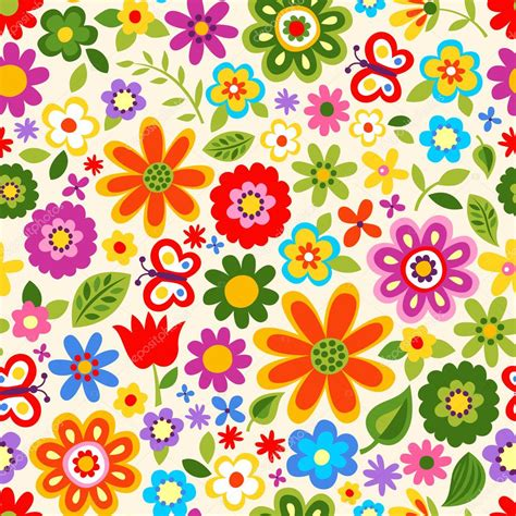 flower pattern stock illustrations seamless retro flower pattern stock vector 169 pauljune