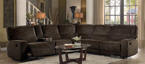 bedroom furniture shreveport homelegance shreveport reclining sectional set brown