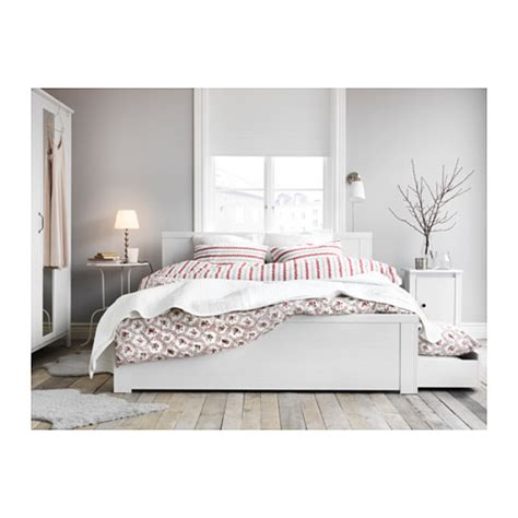 brusali bedroom brusali bed frame with 2 storage boxes white lur 246 y 140x200 cm ikea