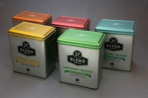 Square Kitchen Design blend bros food packaging design