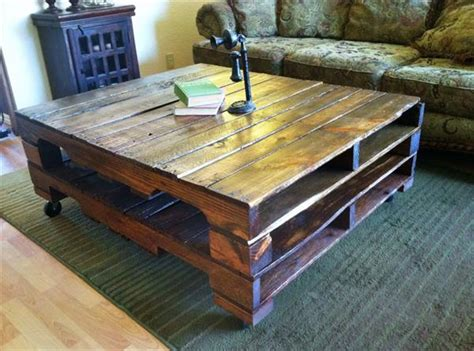 reclaimed wooden coffee table pallet furniture plans