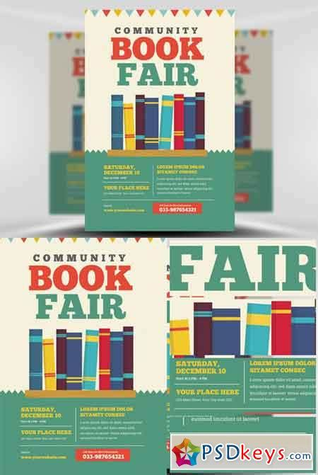 Book Flyer Template Free book fair flyer template yourweek 70594aeca25e
