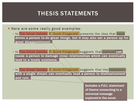 universal themes in the great gatsby deconstructing your analysis essay ppt video online download