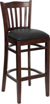 commercial wooden bar stools hercules commercial mahogany wooden vertical slat crown back bar stool with black vinyl seat