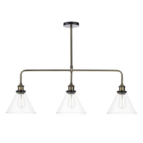 Vintage Style Light Fitting Three In A Row Pendant Light Bar Ceiling Lights