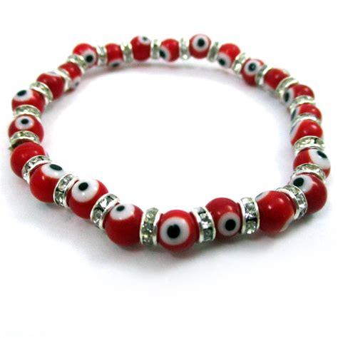 evil eye glass bead bracelet evil eye glass stretch bracelet hamsa lwork
