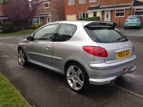 peugeot silver peugeot 2004 206 gti 180 silver car for sale