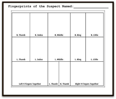 Printable Fingerprint Card Template by 10 Print Fingerprint Card Templates Pictures To Pin On