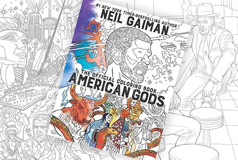 along with the gods book an american gods coloring book is coming soon along