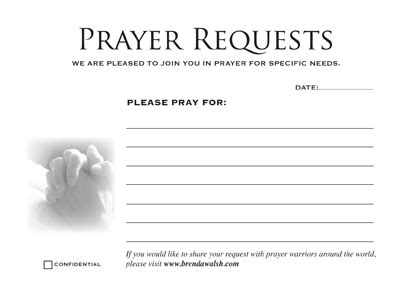 Prayer Request Cards Template 404 Not Found