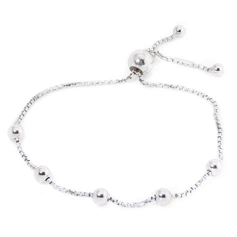 sterling silver beaded italian lariat bracelet sarb00017rh