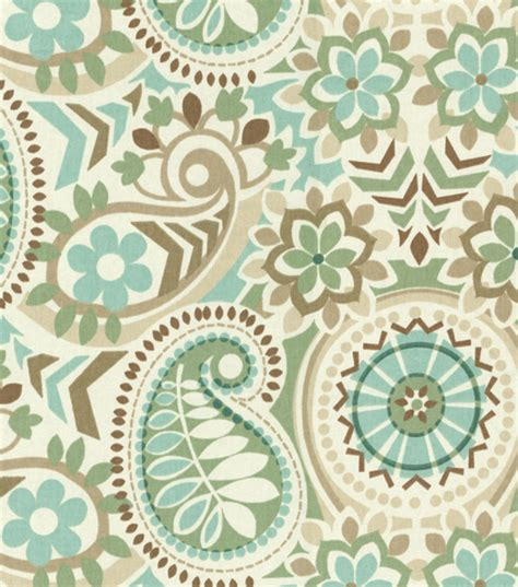home decor print fabric waverly paisley prism latte jo