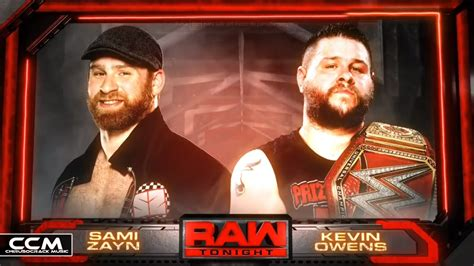 match card template tag team sami zayn vs kevin owens 2016 official match