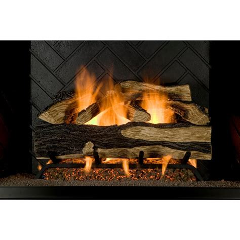 fireplace gas log inserts emberglow oak 18 in vent free propane gas fireplace logs with remote scvfr18l the