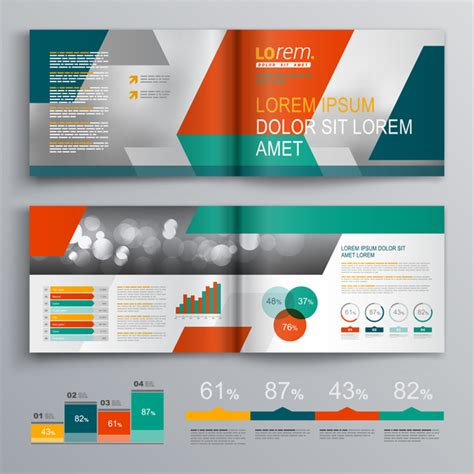 infographic brochure template infographic with modern brochure template vector 04
