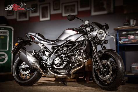 suzuki unveil  svx cafe racer  eicma bike review