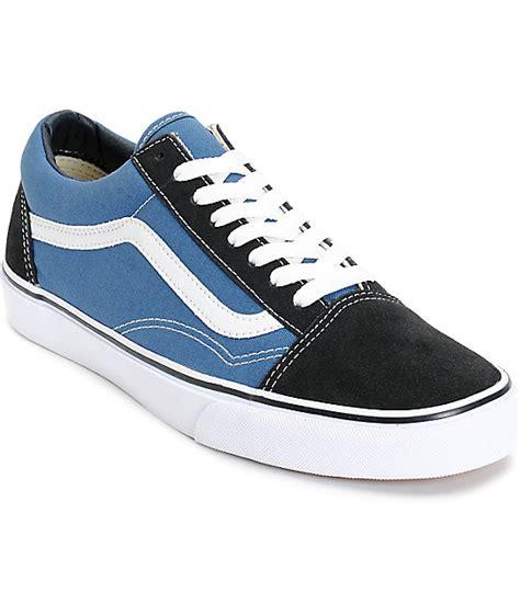 Vans Oldskool Black Navy vans skool navy skate shoes zumiez