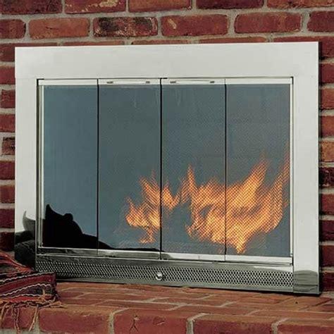 glass front fireplace doors hearth craft slimline stock masonry fireplace door