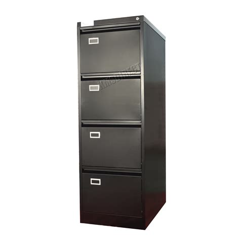 Black Office Drawers by Foxhunter Steel A4 Filing Cabinet With 4 Drawer Storage