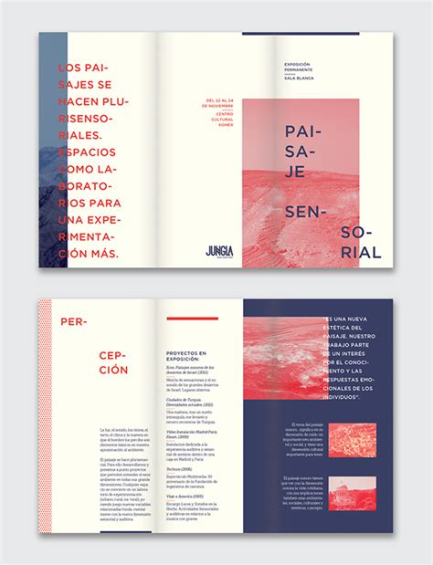 graphic design page layout ideas paisaje sensorial exhibition on behance