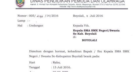 info sma smk kabupaten boyolali undangan rapat persiapan