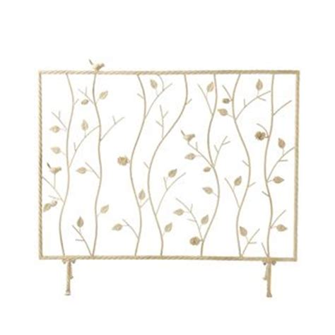 antique white fireplace screen