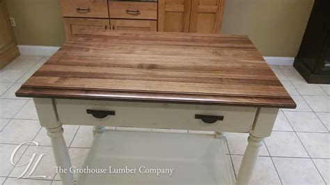 walnut waterproof wood countertop in pennsylvania