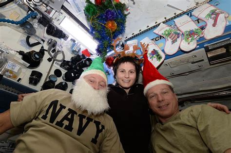 station astronauts send christmas    international space station universe today