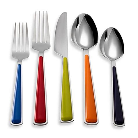 bed bath and beyond silverware fiesta 174 merengue 20 piece flatware set bed bath beyond