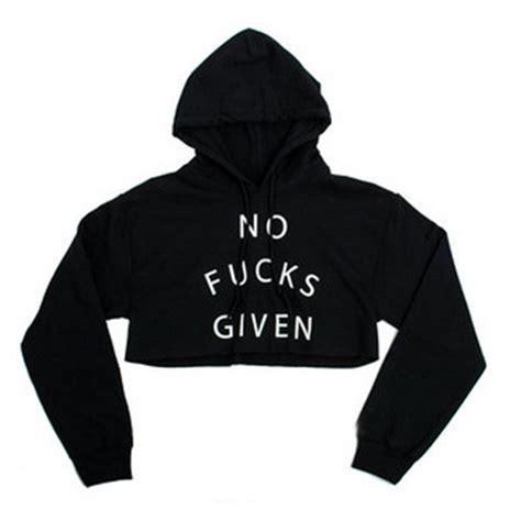 letter print crop hoodie sweatshirt jumper