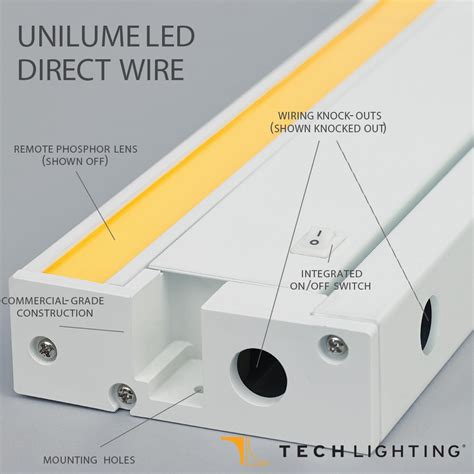 direct wire under lighting unilume led direct wire undercabinet light tech lighting