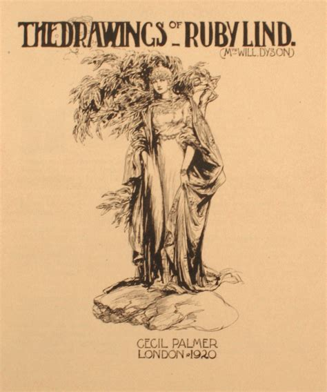 Lindsay Ruby drawings of ruby lind mrs will dyson 1887 1919