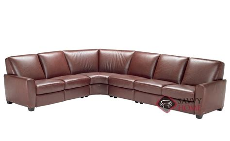 natuzzi reclining sectional melito b615 leather true sectional by natuzzi is fully