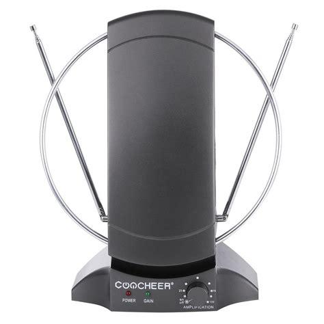 new lified indoor hdtv antenna power high gain 40db uhf vhf fm digital ebay