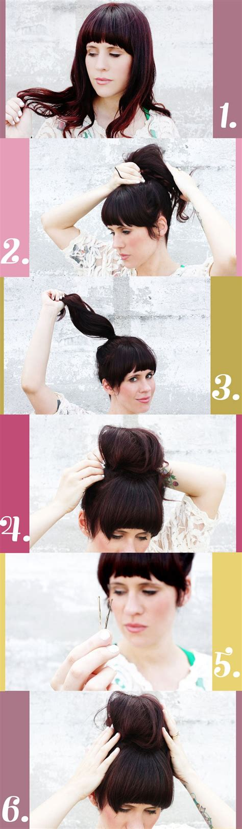 is putting hair in a bun a new fad how to put short hair in a messy bun the science behind