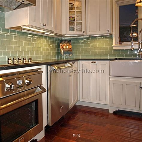 Kitchen Backsplash Green by Gallery For Gt Green Subway Tile Backsplash