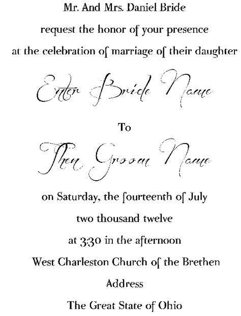 Wedding Invitation Font And Wording by Invitation Font And Wording Weddingbee