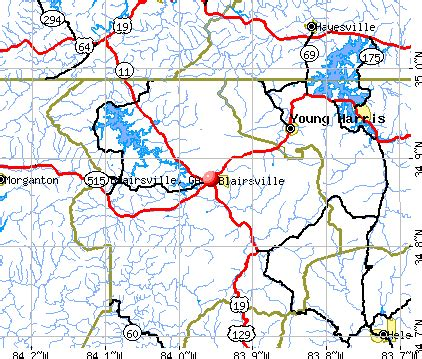 map of blairsville blairsville ga 30512 profile population maps