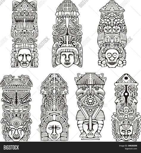 imagenes de totems aztecas aztec totem poles vector photo bigstock