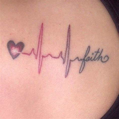 tattoo heartbeat font heartbeat cool design with color hmmm maybe i