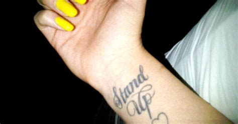 jessie j wrist tattoo j stand up i really want to get this but